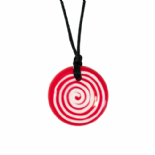 Button Pendant - 'The Jam' (Red & White) - Chewigem